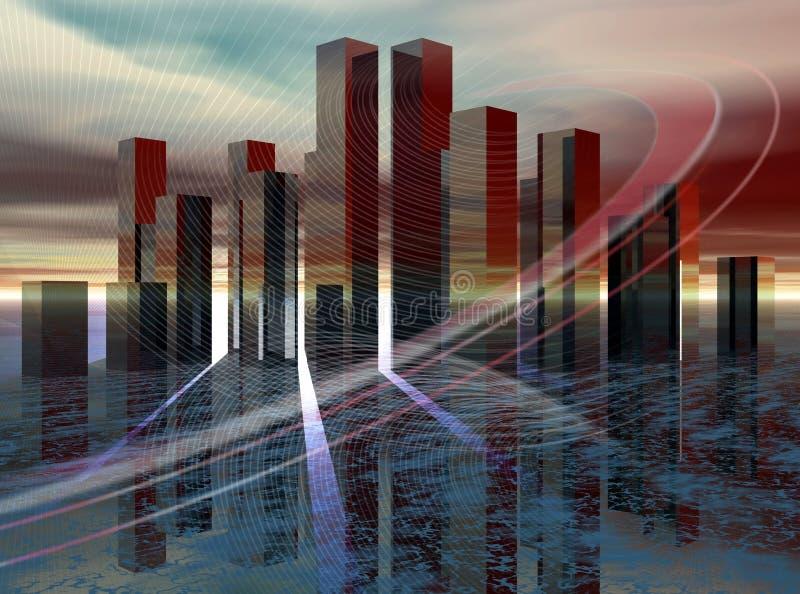 Cidade do futuro imagens de stock royalty free