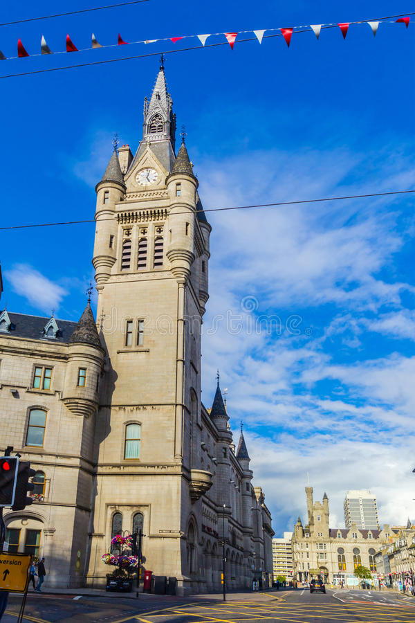Cidade do granito de Aberdeen, condomínio na rua da união, Escócia, Reino Unido, 13/08/2017 fotos de stock royalty free