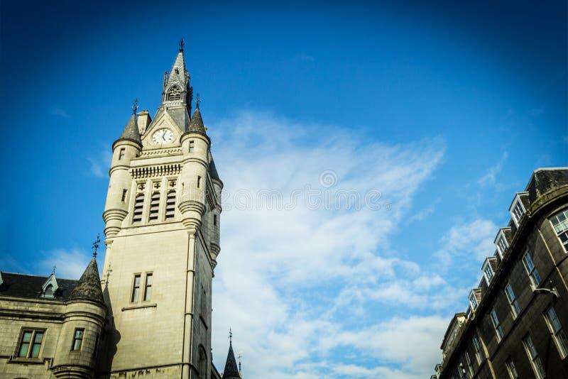 Cidade do granito de Aberdeen, condomínio na rua da união, Escócia, Reino Unido, 13/08/2017 fotografia de stock