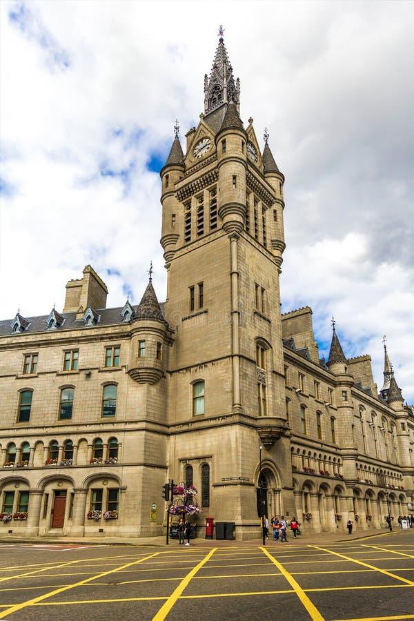 Cidade do granito de Aberdeen, condomínio na rua da união, Escócia, Reino Unido, 13/08/2017 imagem de stock