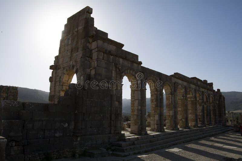 Cidade do império romano de Volubilis em Marrocos, África foto de stock royalty free