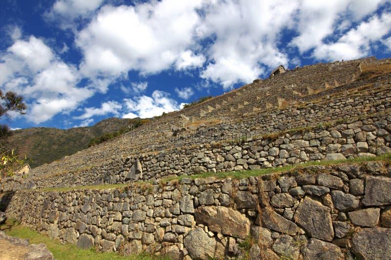 A cidade do Inca de Machu Picchu fotografia de stock