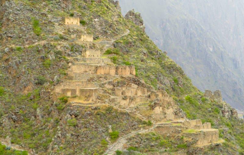 A cidade do inca de Sacsayhuaman arruina a parede fotografia de stock