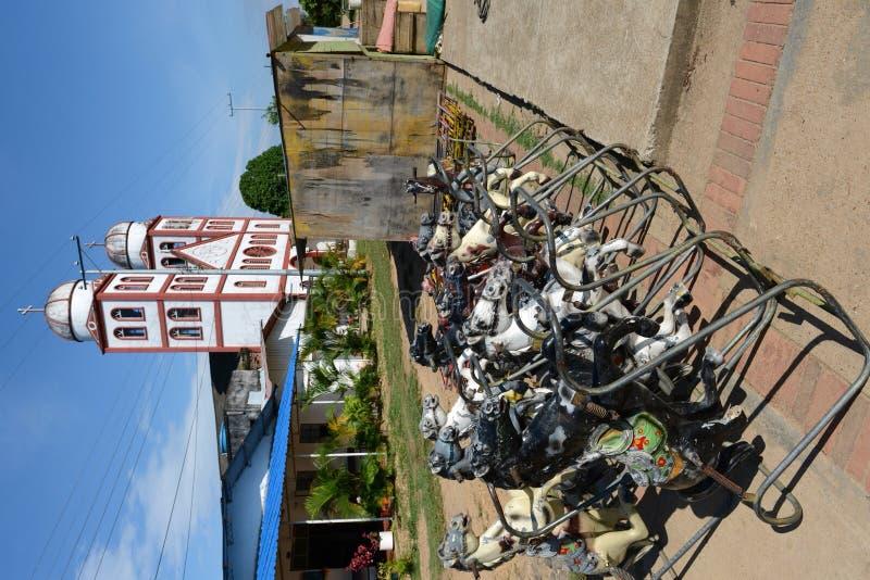 A cidade do La Macarena. Colômbia foto de stock royalty free