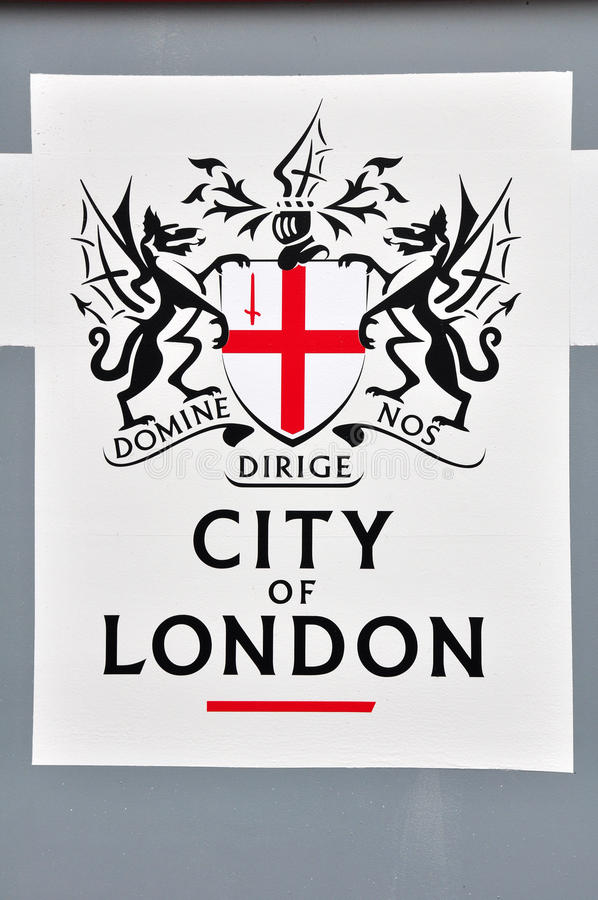 Cidade do logotipo de Londres foto de stock