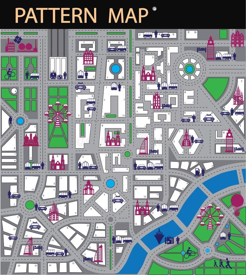 Cidade do mapa ilustração do vetor