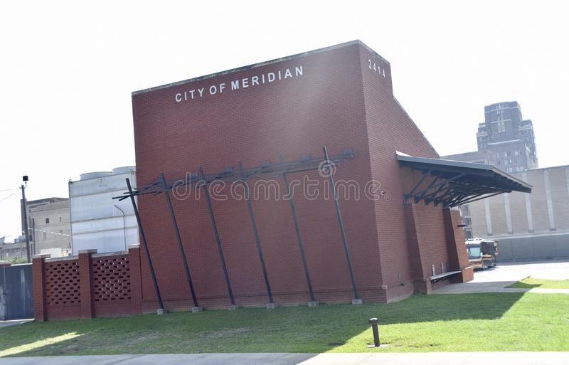 Cidade do meridiano, departamento dos bombeiros de Mississippi fotografia de stock