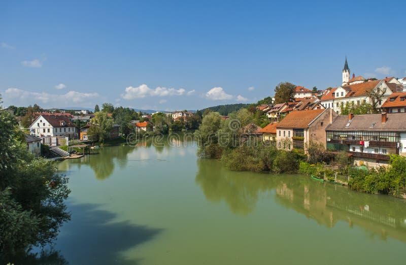 Cidade do mesto de Novo, Eslovênia foto de stock royalty free