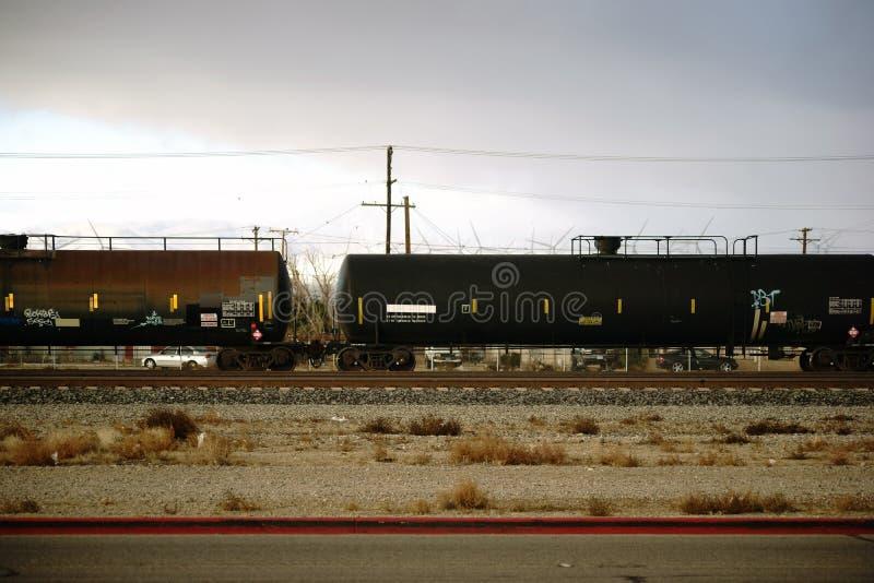 Cidade do Mojave do transporte de bens perigosos imagens de stock