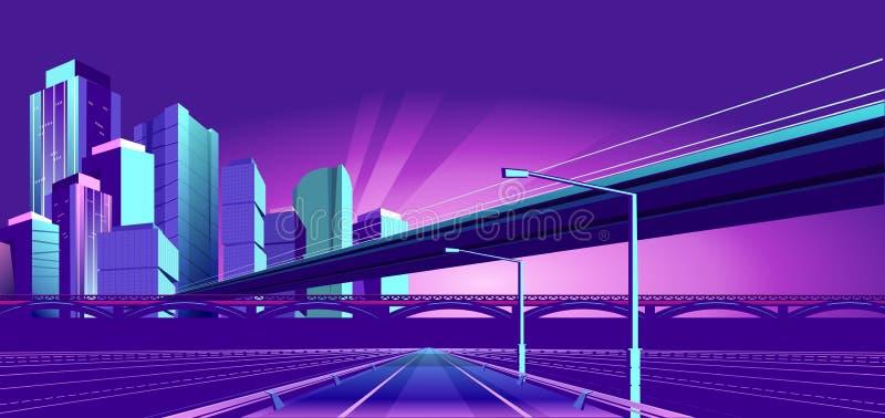 Cidade do néon da noite