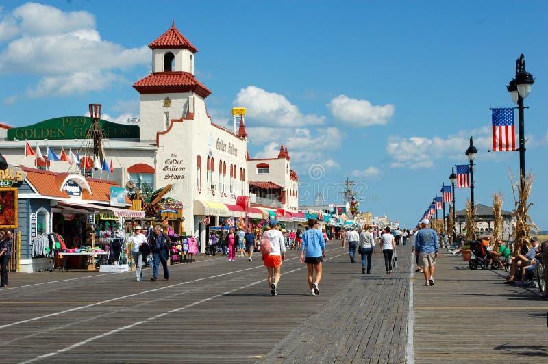 Cidade do oceano, New-jersey imagens de stock
