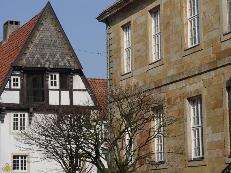 A cidade do osnabrueck em Alemanha imagens de stock royalty free