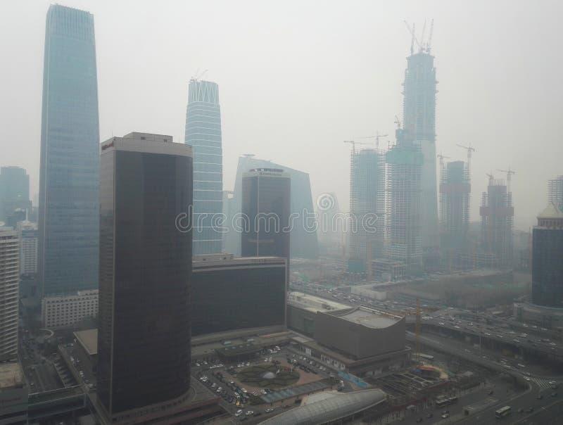Cidade 3 do Pequim da poluição do embaçamento foto de stock royalty free