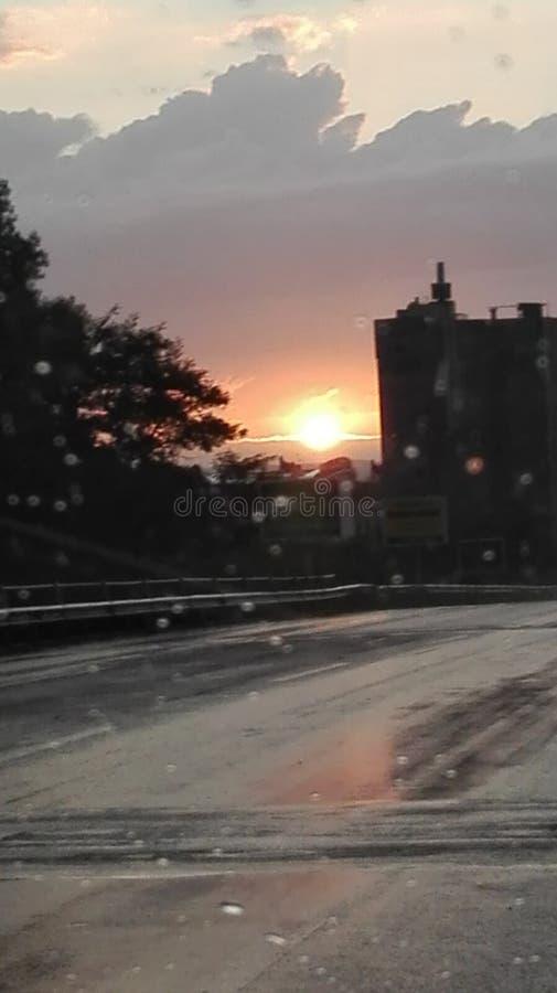 Cidade do por do sol de Arezzo foto de stock royalty free