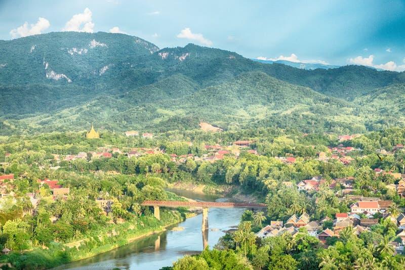 Cidade do prabang de Luang foto de stock royalty free