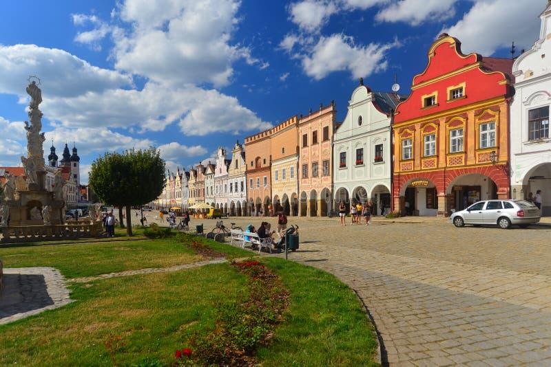 Cidade do renascimento de Telc, República Checa fotografia de stock royalty free