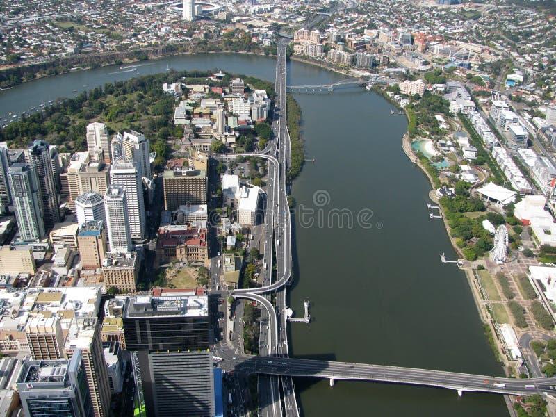 Cidade do rio foto de stock