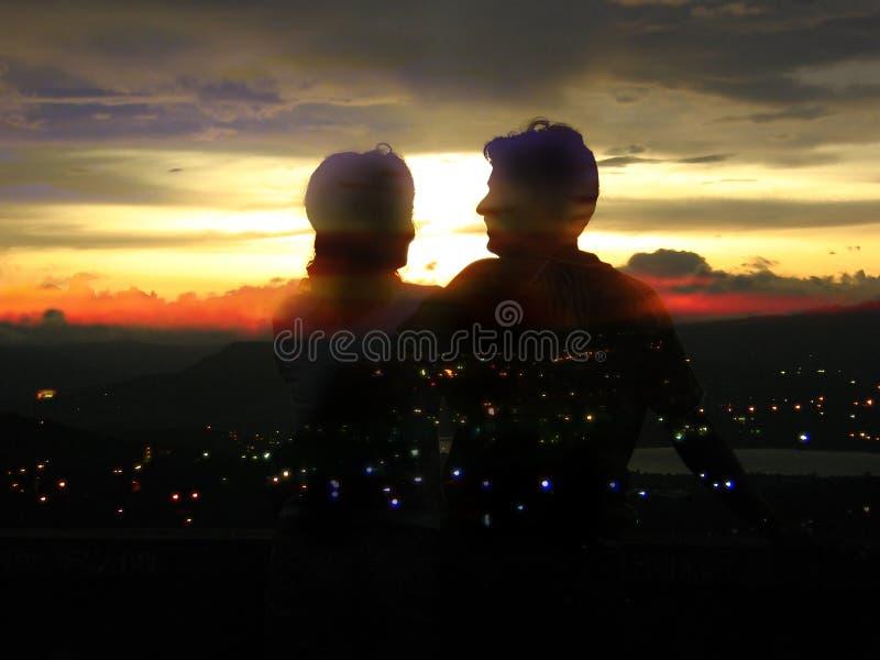 Cidade do romance foto de stock