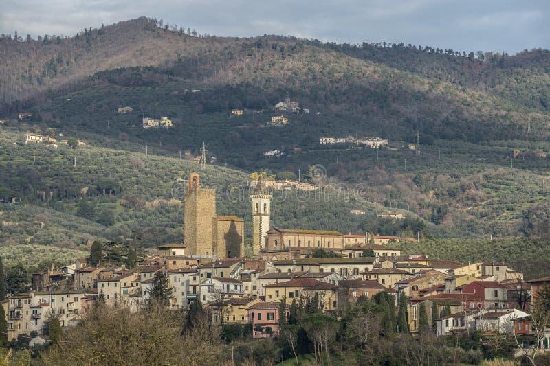 Cidade do ` s de Leonardo da Vinci em Toscânia Itália imagem de stock