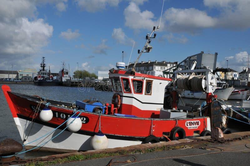 Cidade do Saint Nazaire em Loire Atlantique imagem de stock royalty free