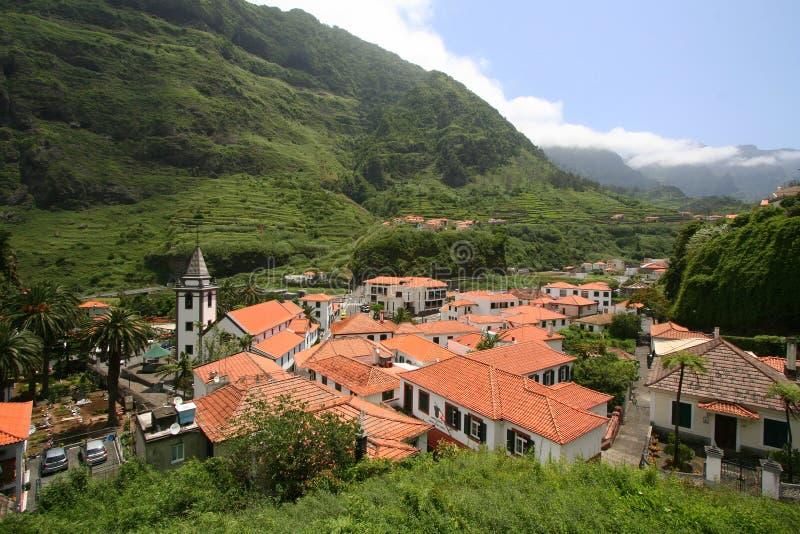 Cidade do Sao Vicente em Madeira fotografia de stock royalty free
