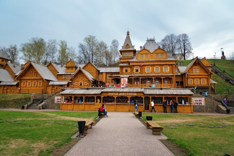 Cidade dos artesãos em Gorodets fotografia de stock royalty free