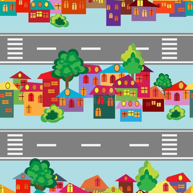 Cidade dos desenhos animados ilustração stock