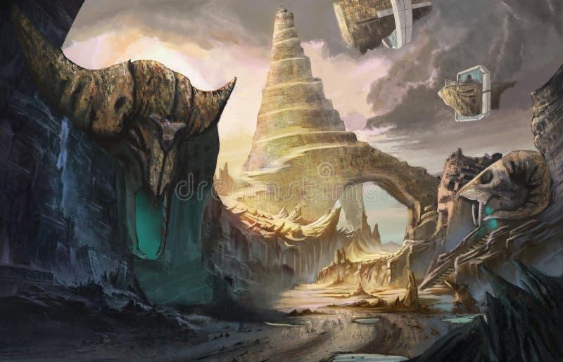 Cidade dos mages ilustração stock