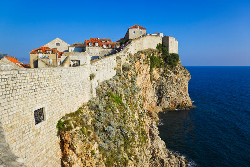 Cidade Dubrovnik em Croatia fotos de stock
