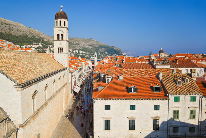 Cidade Dubrovnik na Croácia foto de stock royalty free