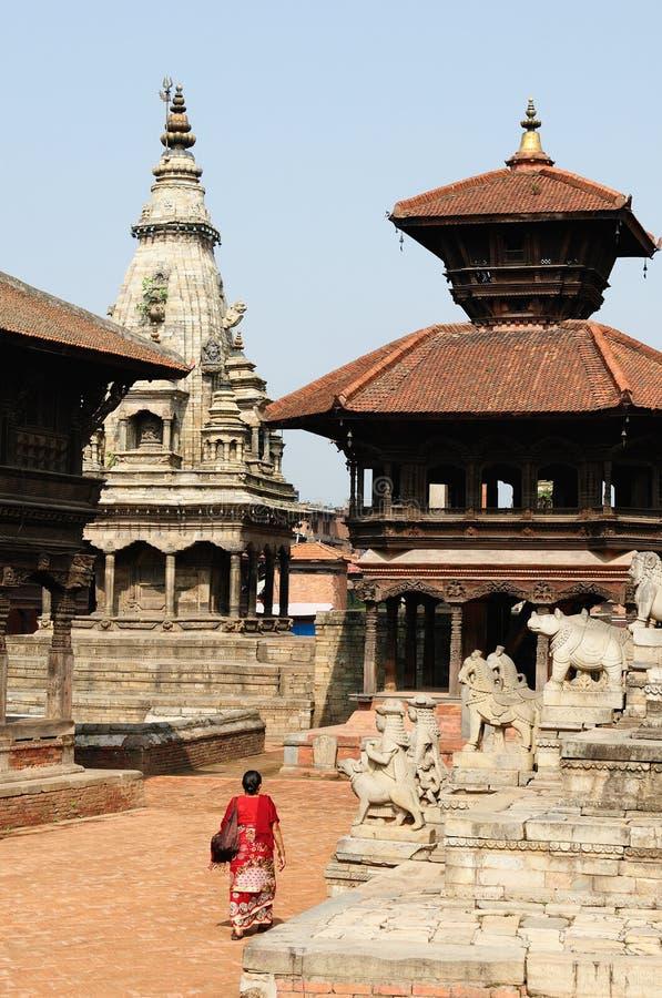 Cidade durbar de Bhaktapur em Nepal imagens de stock royalty free