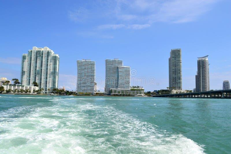 Cidade e excursão Miami de Biscayne fotos de stock royalty free
