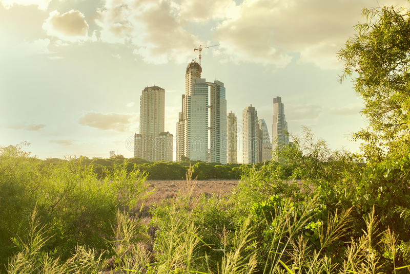 Cidade e natureza imagem de stock royalty free