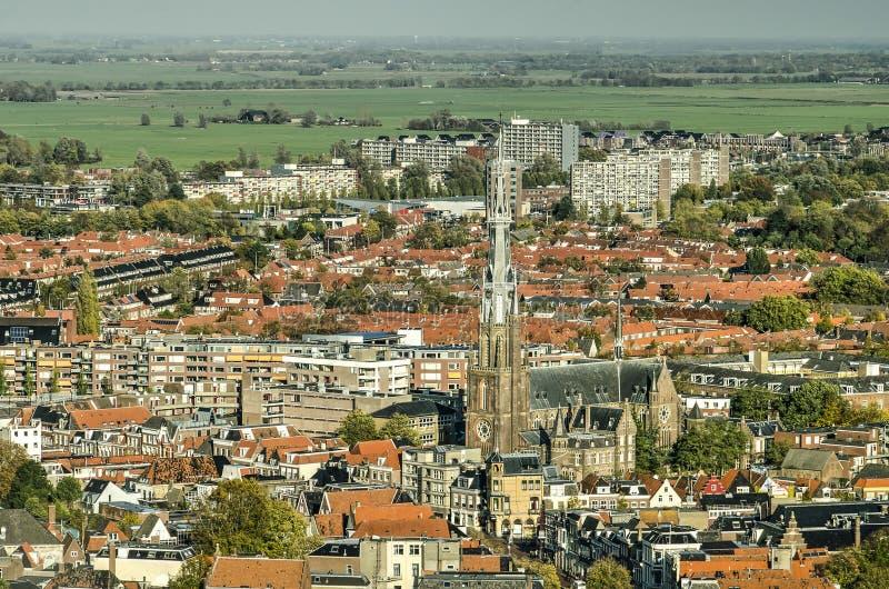 Cidade e paisagem de Leeuwarden imagens de stock
