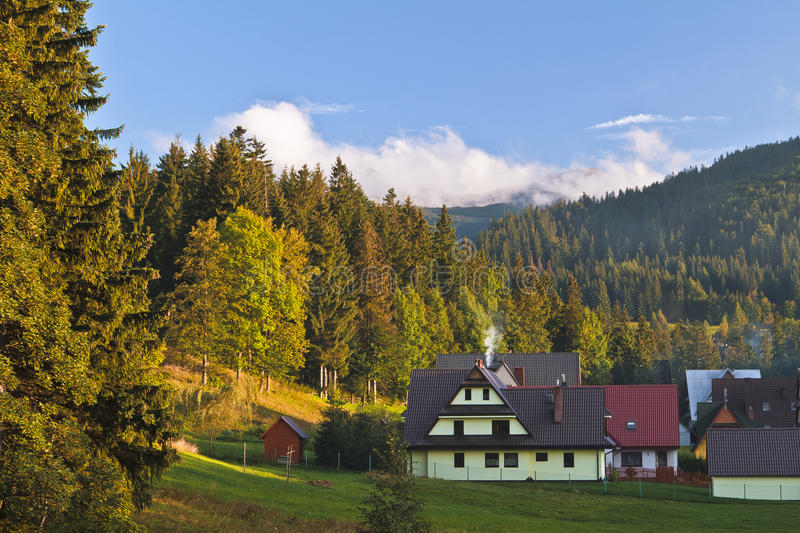 Cidade e paisagem de Zakopane fotografia de stock royalty free