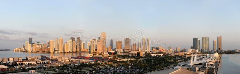 Cidade e porta de Miami foto de stock royalty free