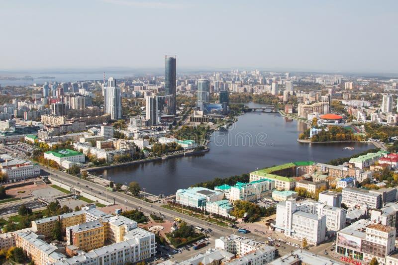 Cidade Ekaterinburg de Ural imagem de stock royalty free