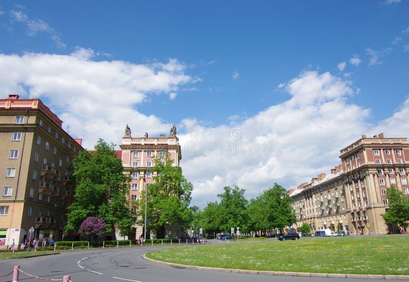 Cidade em maio, Ostrava - Poruba fotos de stock royalty free