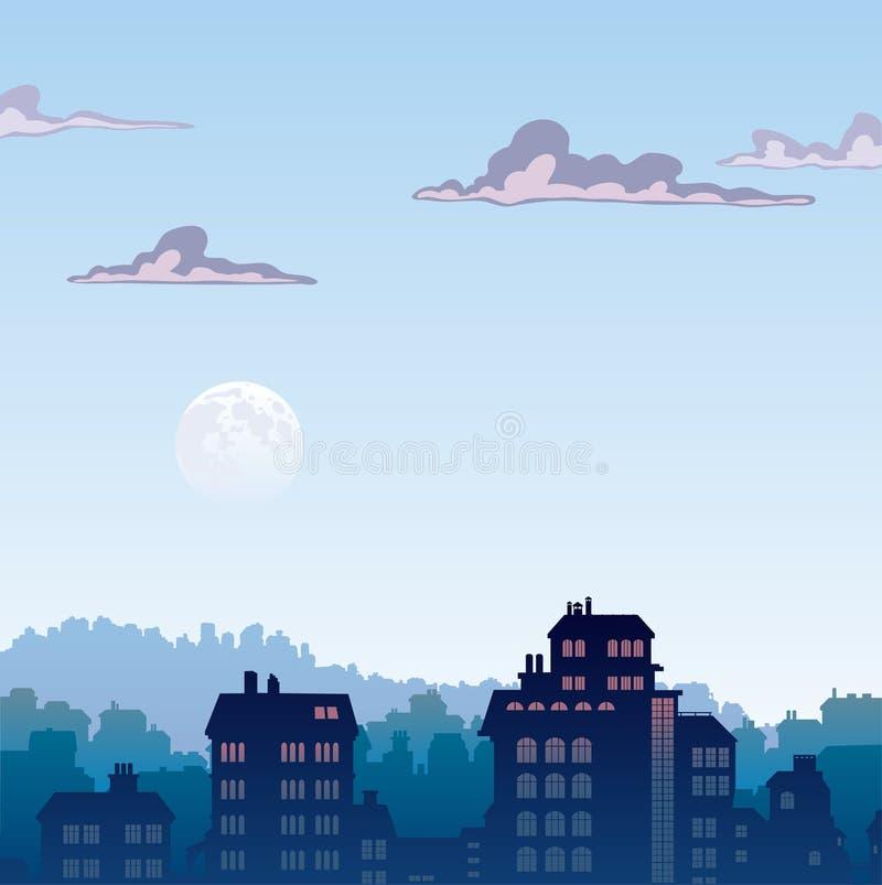 Cidade em a manhã ilustração royalty free