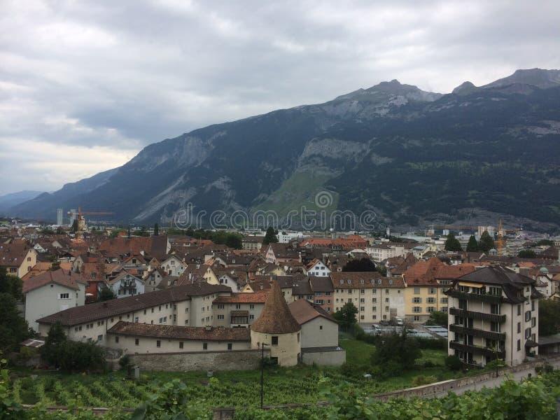 Cidade em Suíça fotografia de stock