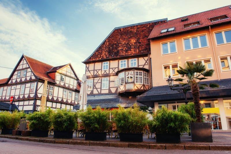 Cidade encantador no ttel de Alemanha - de Wolfenb Pouca Veneza fotografia de stock