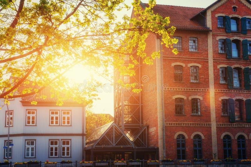 Cidade encantador no ttel de Alemanha - de Wolfenb Pouca Veneza imagem de stock