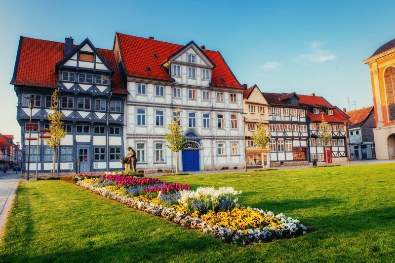 Cidade encantador no ttel de Alemanha - de Wolfenb Pouca Veneza imagens de stock