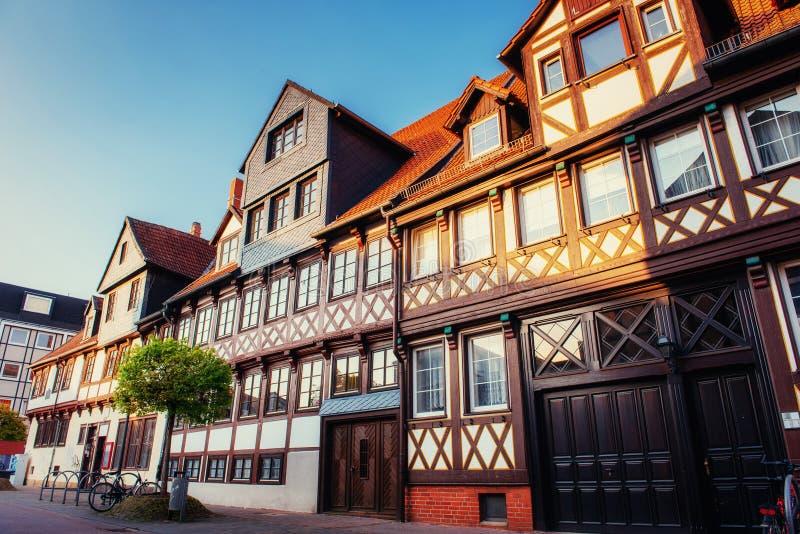 Cidade encantador no ttel de Alemanha - de Wolfenb Pouca Veneza fotografia de stock royalty free