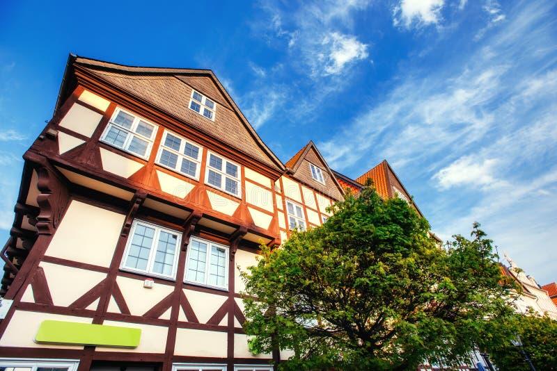 Cidade encantador no ttel de Alemanha - de Wolfenb Pouca Veneza fotos de stock royalty free