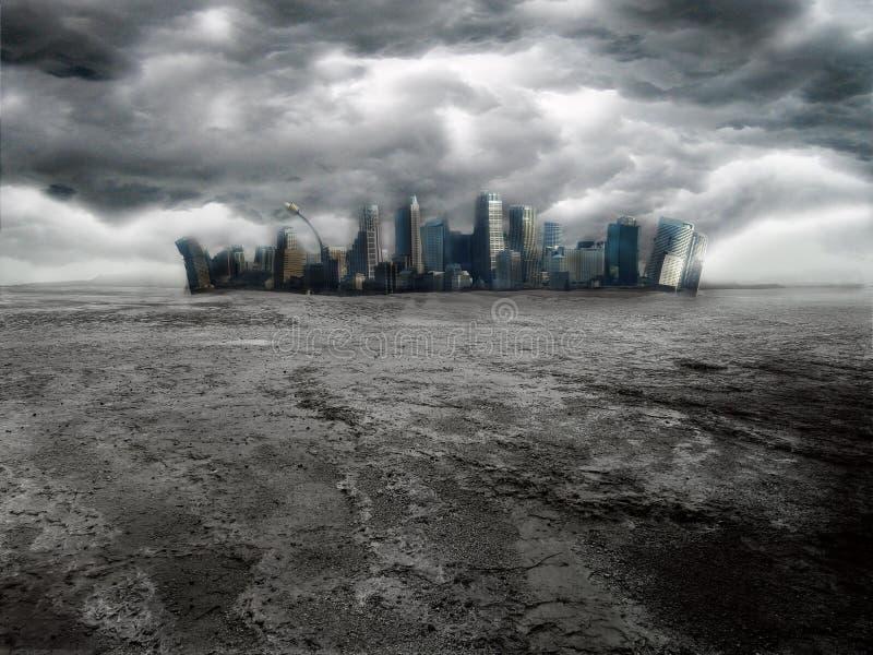 Cidade escura foto de stock