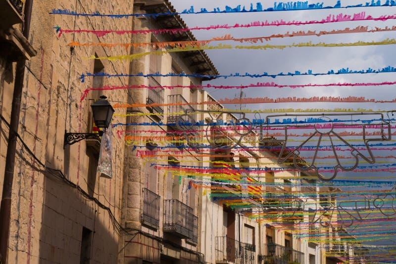 Cidade espanhola do festival fotografia de stock royalty free