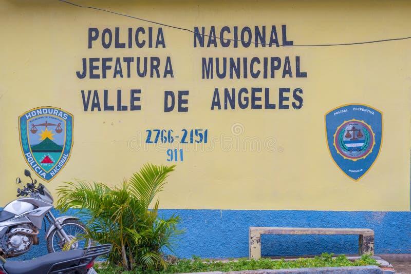 Cidade espanhola velha da mineração de Valle de Angeles perto de Tegucigalpa, Hondu imagem de stock