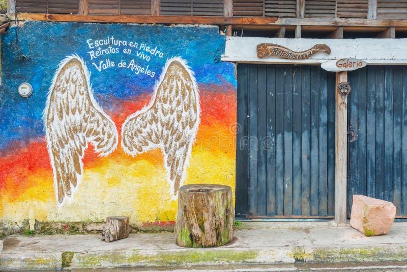 Cidade espanhola velha da mineração de Valle de Angeles perto de Tegucigalpa, Hondu foto de stock royalty free