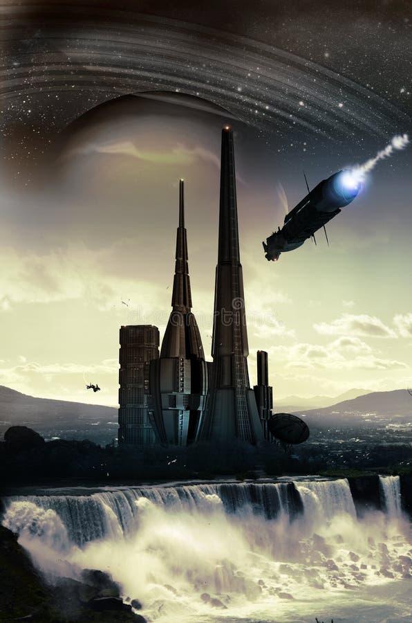 Cidade estrangeira ilustração do vetor